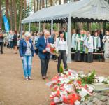 Uroczystość Pomnik Pomordowanych Tuchola Rudzki Most 2.09.2018 fot. Andrzej Drelich-63