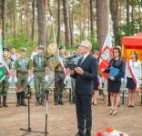 Uroczystość Pomnik Pomordowanych Tuchola Rudzki Most 2.09.2018 fot. Andrzej Drelich-65