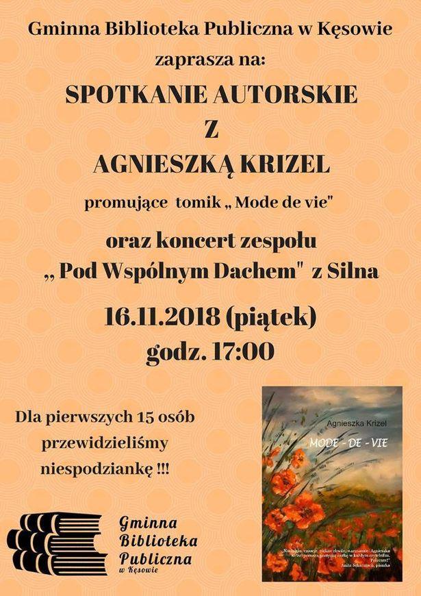 Agnieszka Krizel spotkania autorskie 2