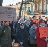 Wiec poparcia dla strajkujących nauczycieli Tuchola 15.04.2019-2