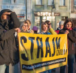 Wiec poparcia dla strajkujących nauczycieli Tuchola 15.04.2019-3