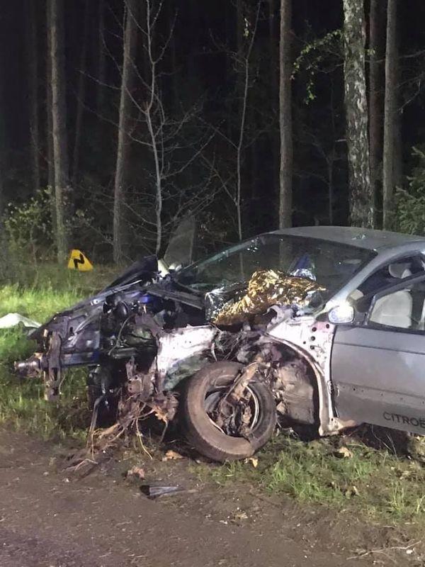 Wypadek Rudzki Most – Cekcynek 14.05.2019 fot. OSP Cekcyn 2