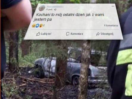 Zwłoki w spalonym samochodzie Wierzchucin FB 23.05.2019