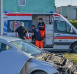 Kolizja Tuchola ul Bydgoska - Czarna Droga 5.07.2019-13