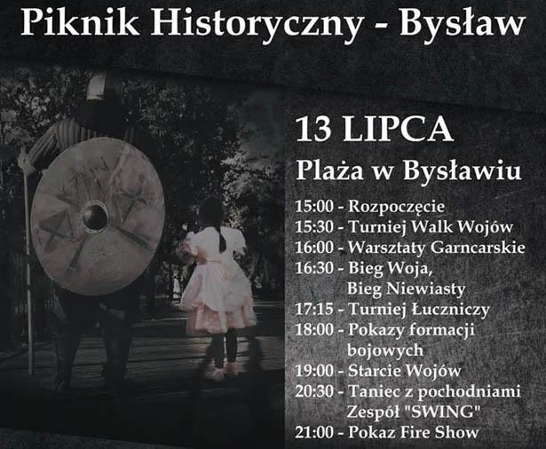 Piknik Historyczny Bysław 13.07.2019 plakat