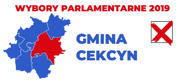 wybory 2019 gmina Cekcyn