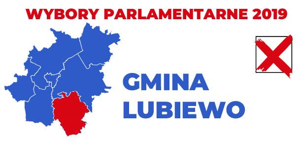 wybory 2019 gmina Lubiewo