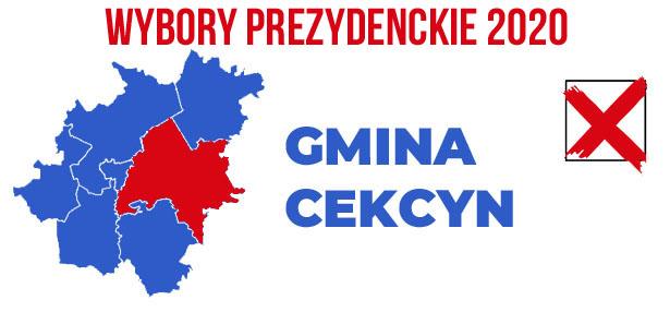 wybory PREZYDENCKIE 2020 gmina Cekcyn
