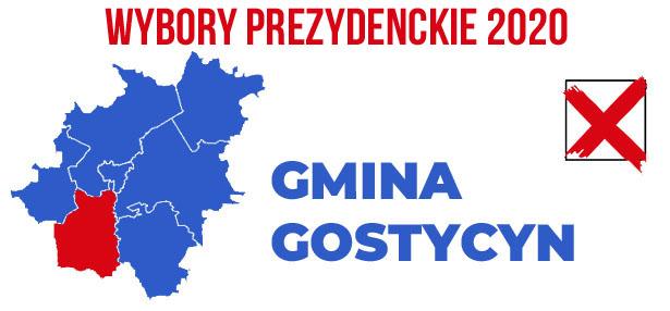 wybory PREZYDENCKIE 2020 gmina Gostycyn