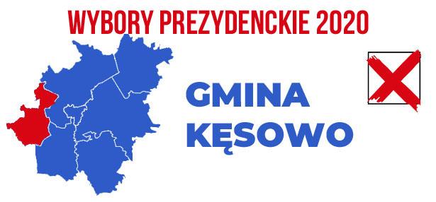 wybory PREZYDENCKIE 2020 gmina Kęsowo