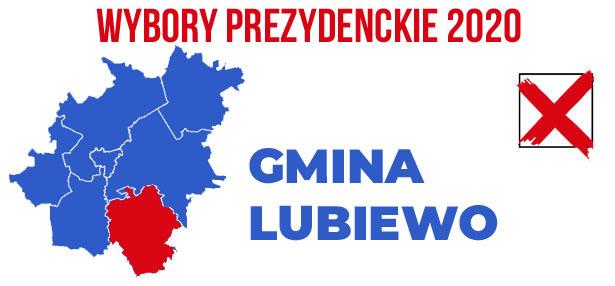 wybory PREZYDENCKIE 2020 gmina Lubiewo