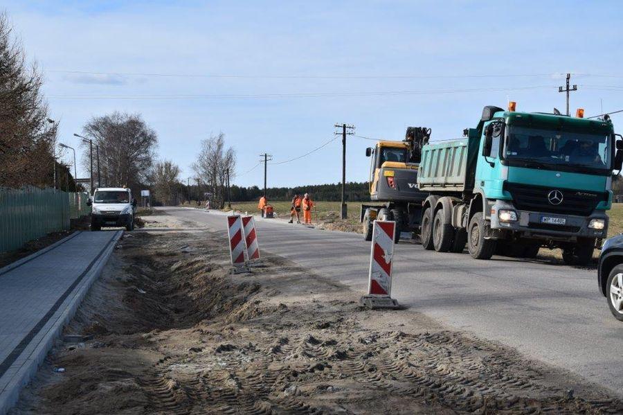 Przebudowa drogi powiatowej Śliwice 03.2021 fot. Starostwo Tuchola 3